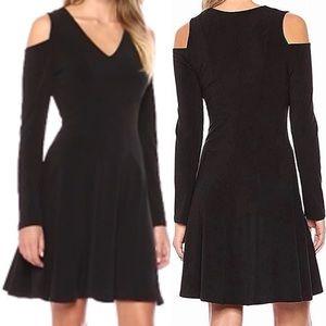 NWT Karen Kane cold shoulder black dress